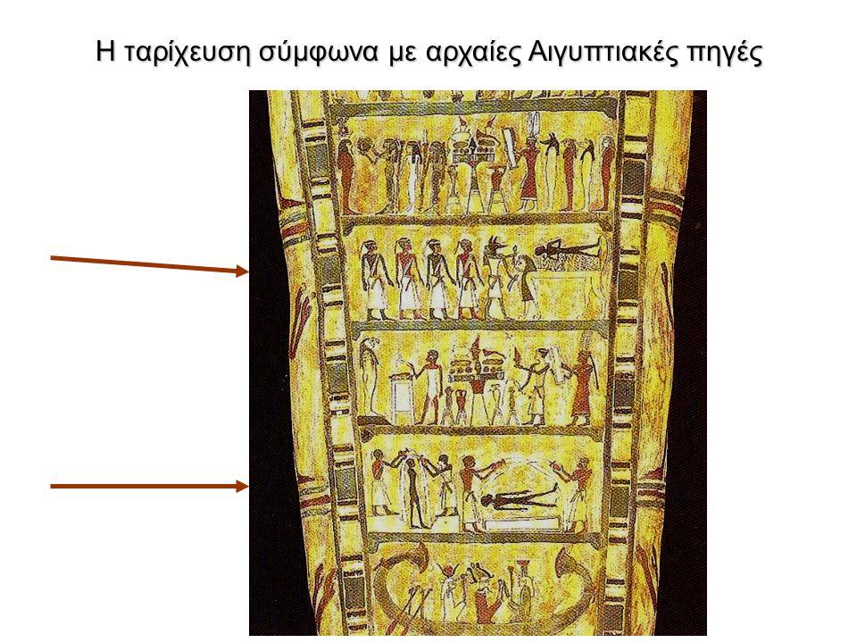 Η ταρίχευση σύμφωνα με αρχαίες Αιγυπτιακές πηγές