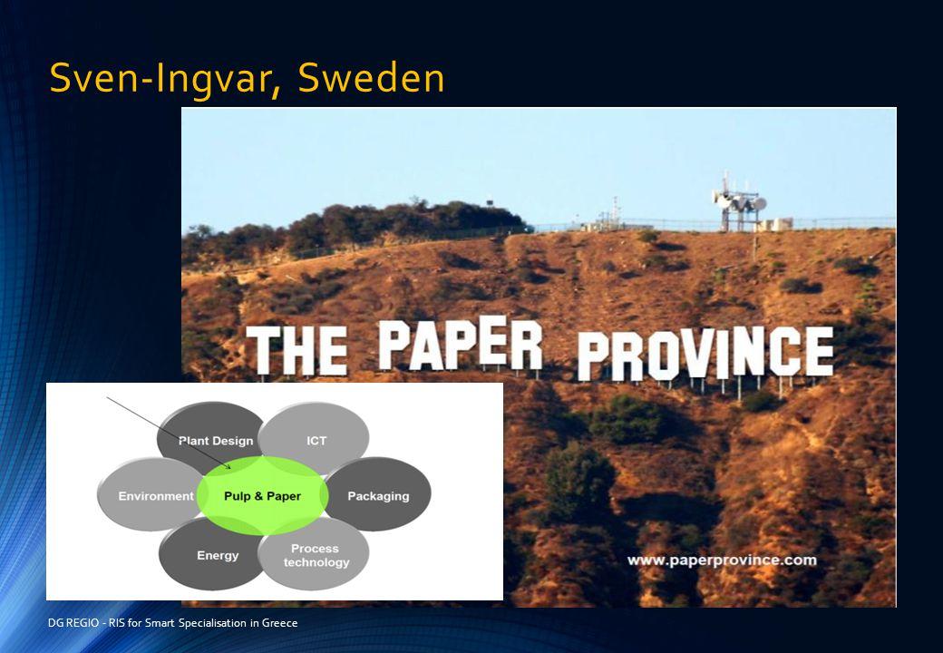 Sven-Ingvar, Sweden DG REGIO - RIS for Smart Specialisation in Greece