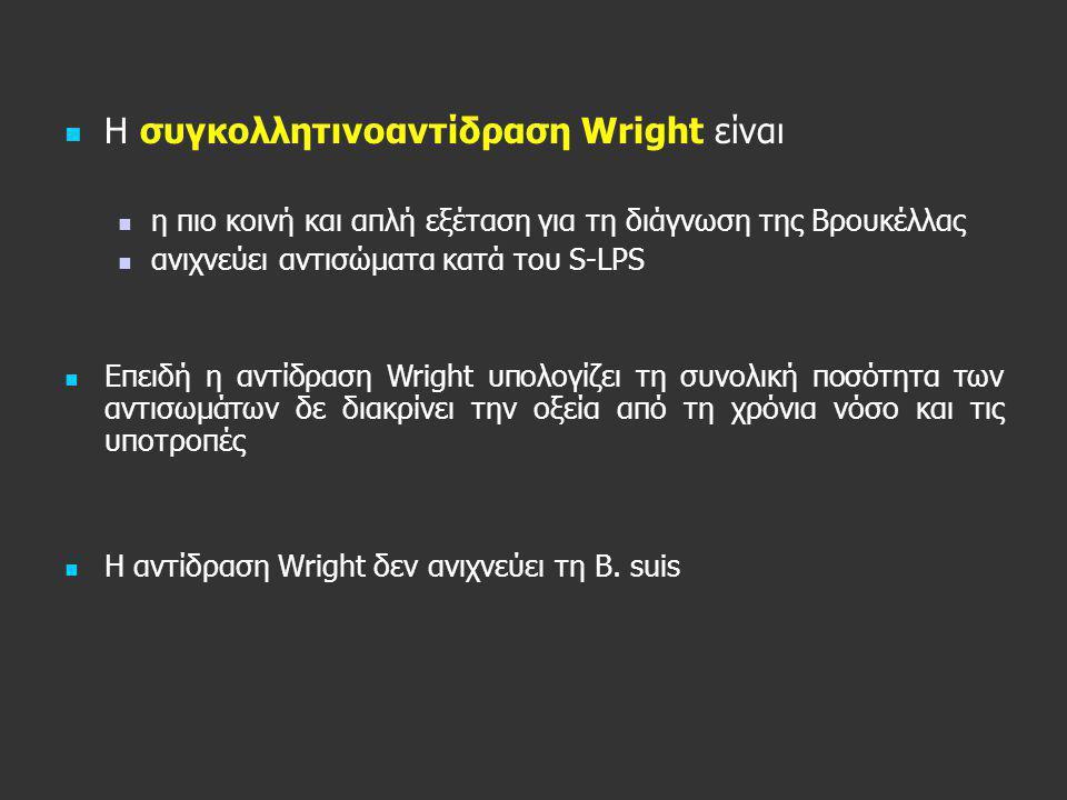 H συγκολλητινοαντίδραση Wright είναι