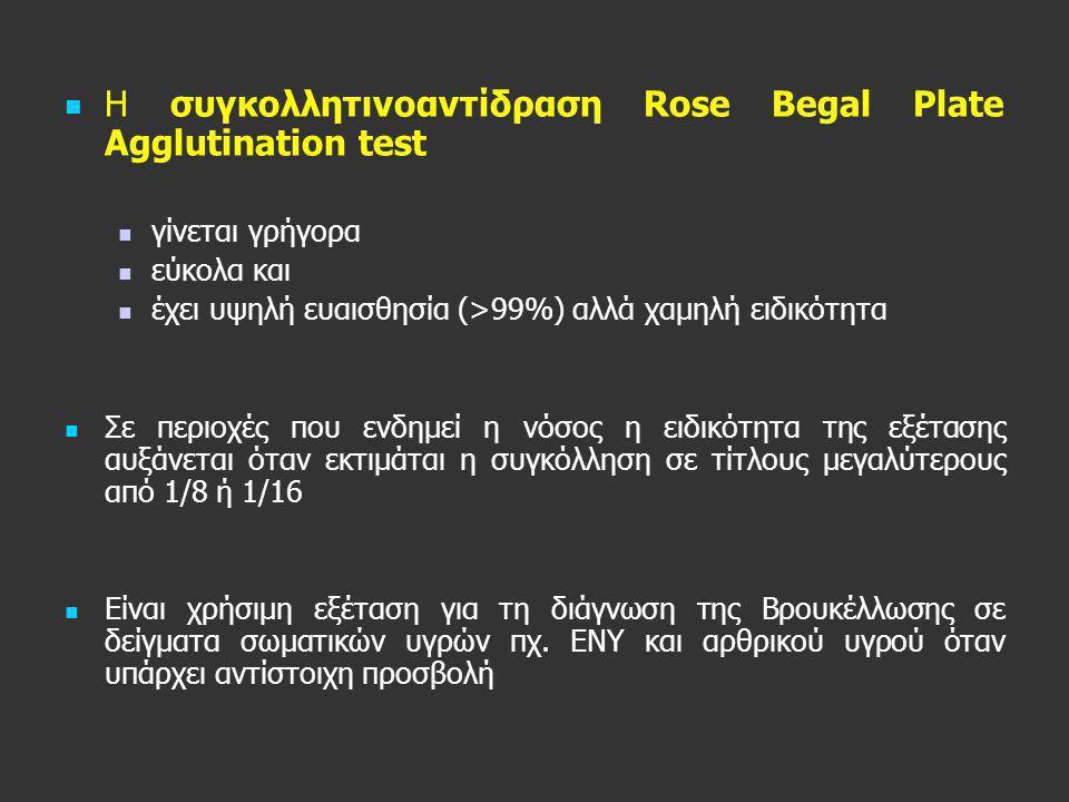 Η συγκολλητινοαντίδραση Rose Begal Plate Agglutination test