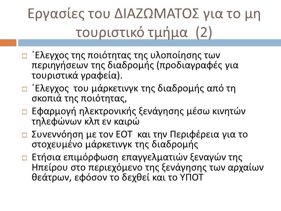 Εργασίες του ΔΙΑΖΩΜΑΤΟΣ για το μη τουριστικό τμήμα (2)