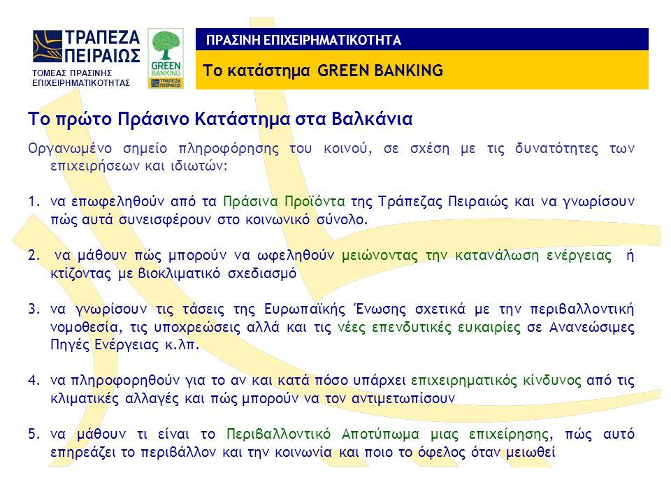 Το πρώτο Πράσινο Κατάστημα στα Βαλκάνια