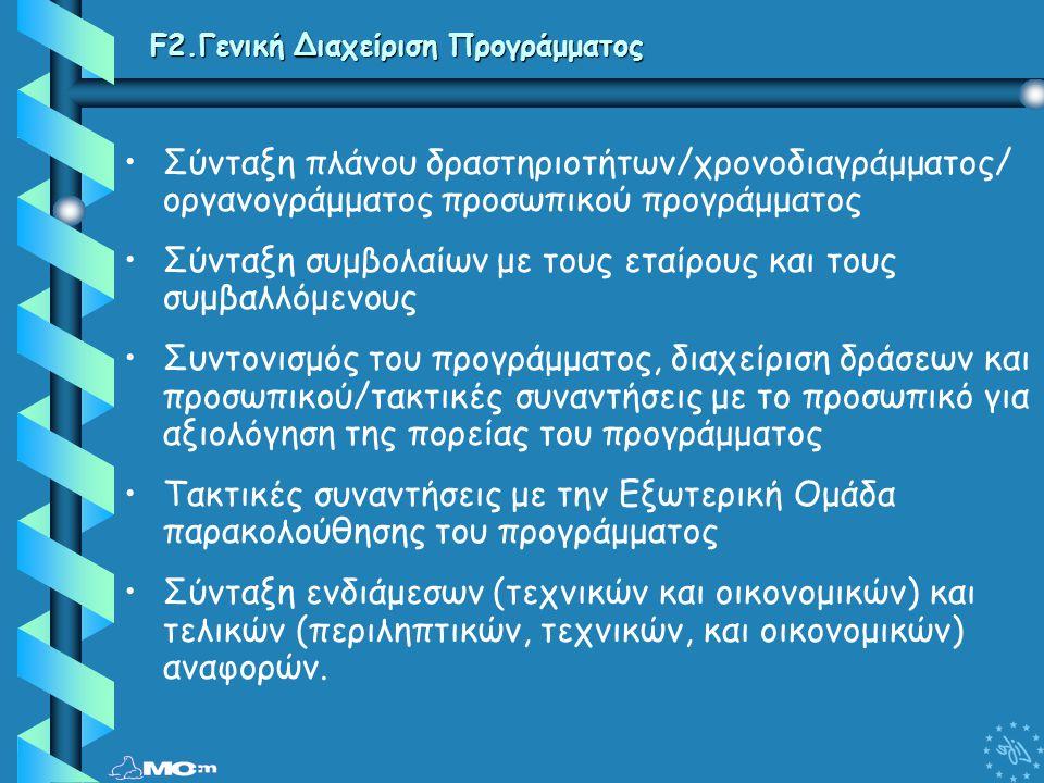 F2.Γενική Διαχείριση Προγράμματος