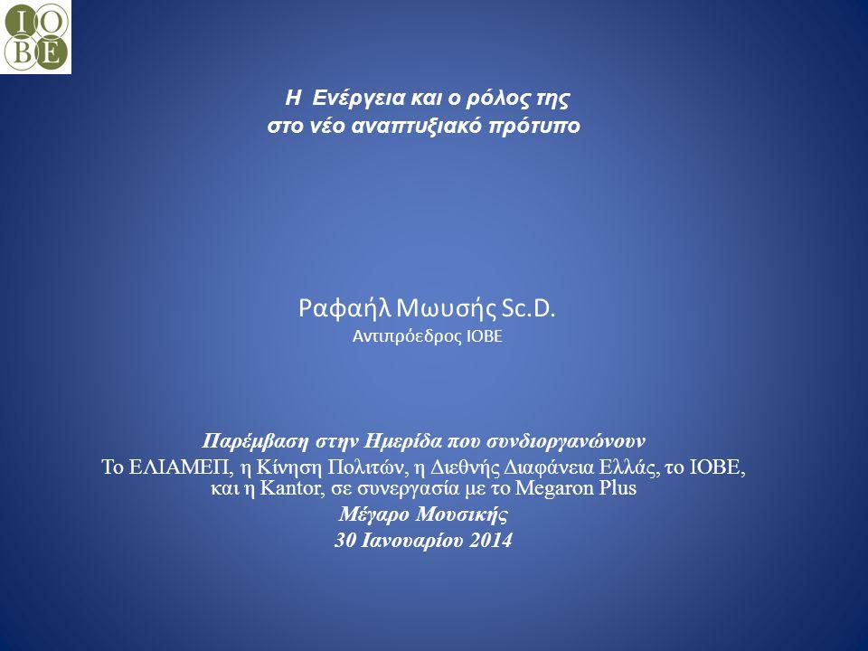 Ραφαήλ Μωυσής Sc.D. Αντιπρόεδρος ΙΟΒΕ
