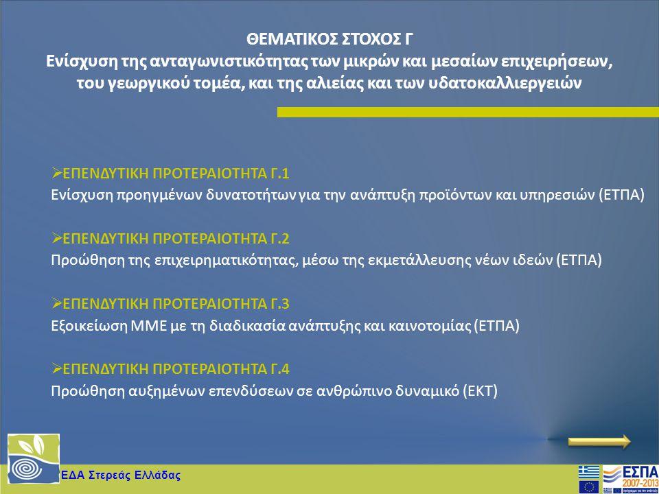 ΘΕΜΑΤΙΚΟΣ ΣΤΟΧΟΣ Γ