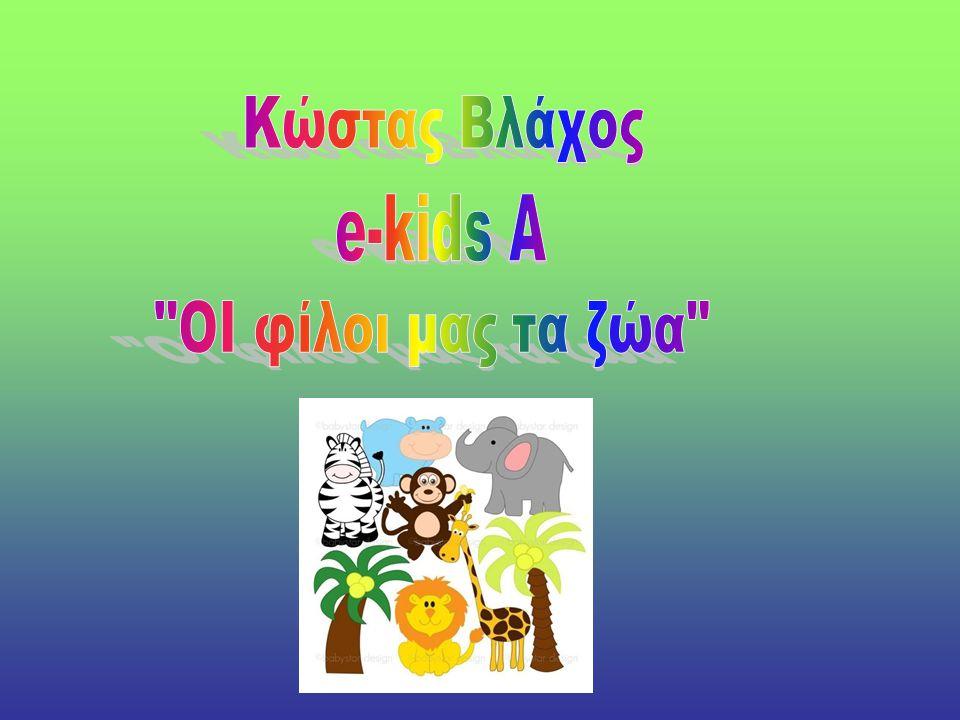 Κώστας Βλάχος e-kids A ΟΙ φίλοι μας τα ζώα