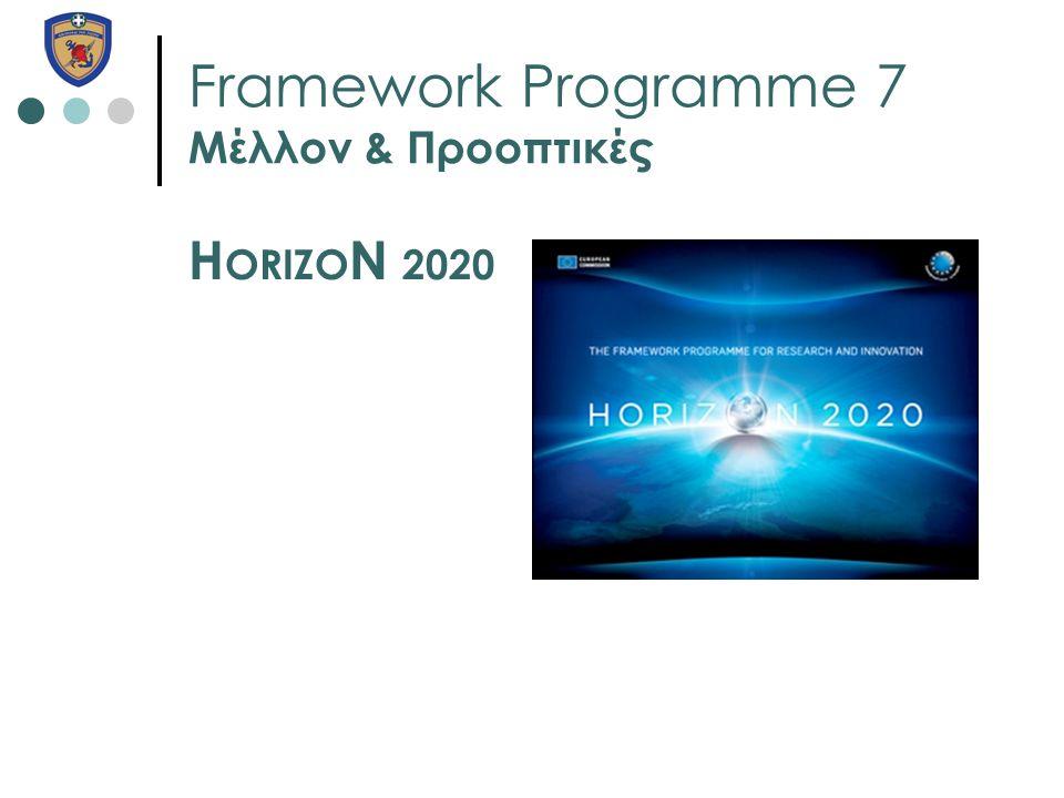 Framework Programme 7 Μέλλον & Προοπτικές