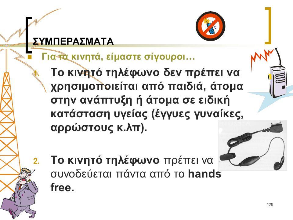 Το κινητό τηλέφωνο πρέπει να συνοδεύεται πάντα από το hands free.