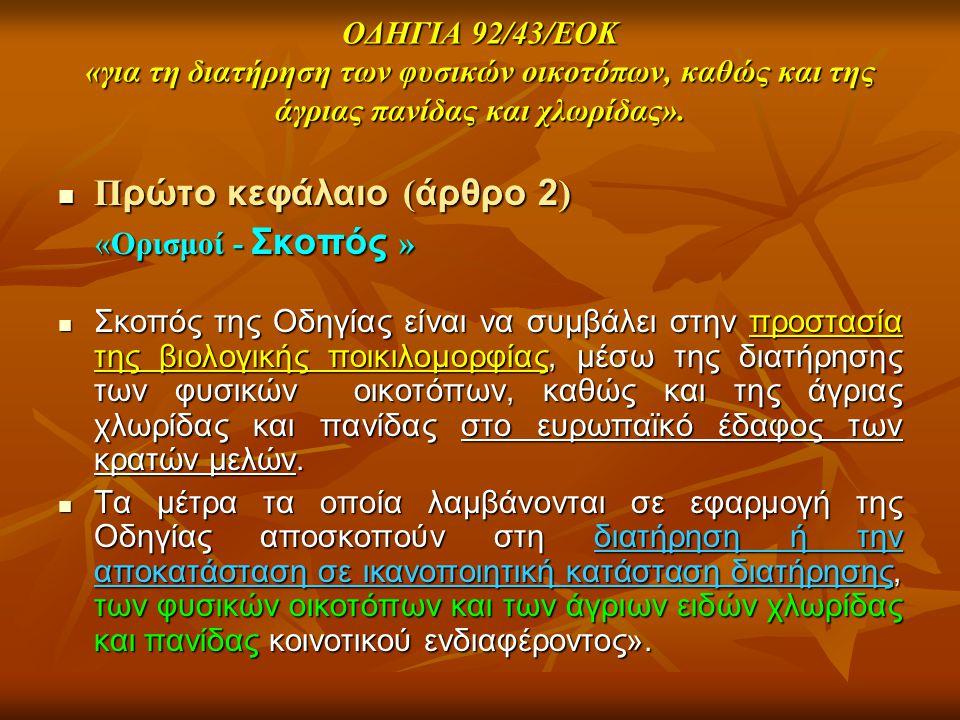 Πρώτο κεφάλαιο (άρθρο 2)
