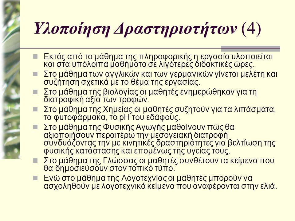 Υλοποίηση Δραστηριοτήτων (4)