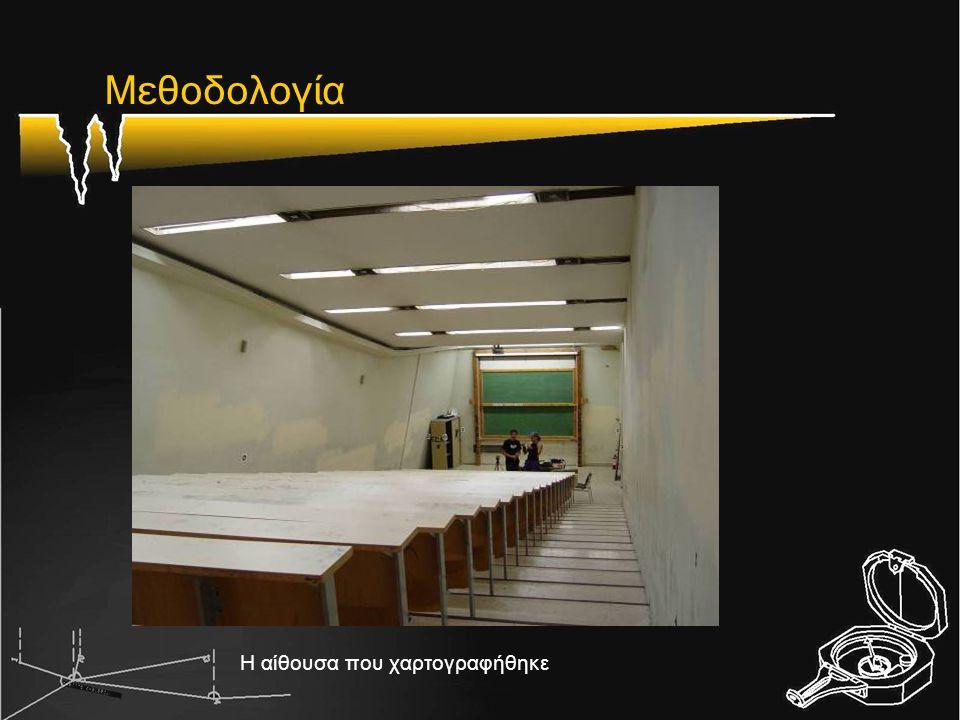 Μεθοδολογία Η αίθουσα που χαρτογραφήθηκε