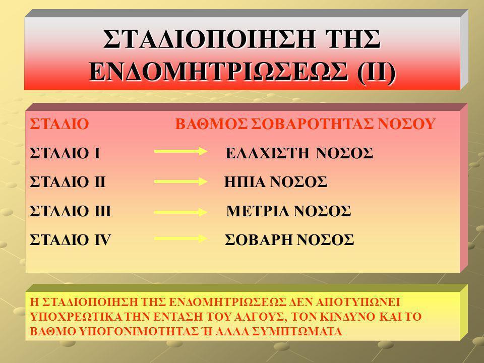 ΣΤΑΔΙΟΠΟΙΗΣΗ ΤΗΣ ΕΝΔΟΜΗΤΡΙΩΣΕΩΣ (ΙΙ)
