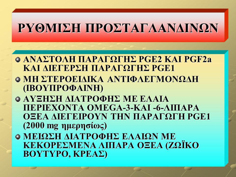 ΡΥΘΜΙΣΗ ΠΡΟΣΤΑΓΛΑΝΔΙΝΩΝ