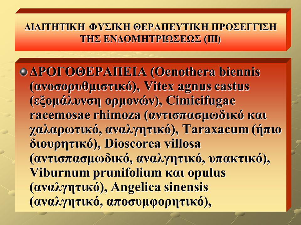 ΔΙΑΙΤΗΤΙΚΗ ΦΥΣΙΚΗ ΘΕΡΑΠΕΥΤΙΚΗ ΠΡΟΣΕΓΓΙΣΗ ΤΗΣ ΕΝΔΟΜΗΤΡΙΩΣΕΩΣ (III)