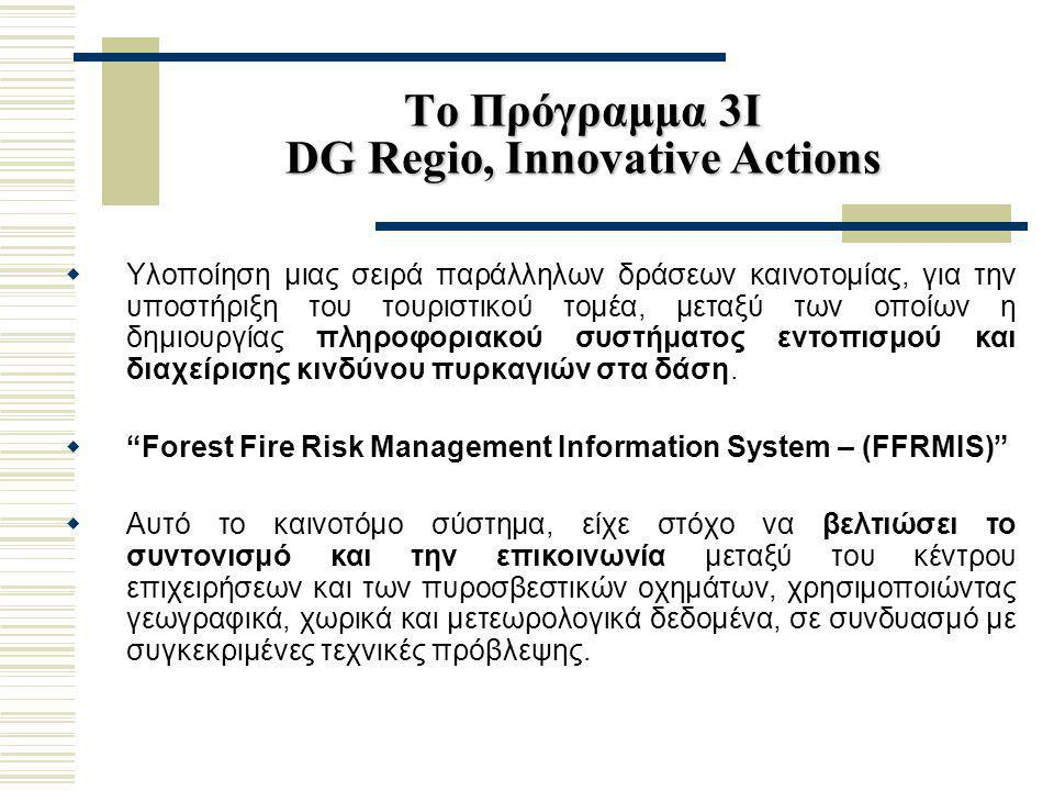 Το Πρόγραμμα 3Ι DG Regio, Innovative Actions