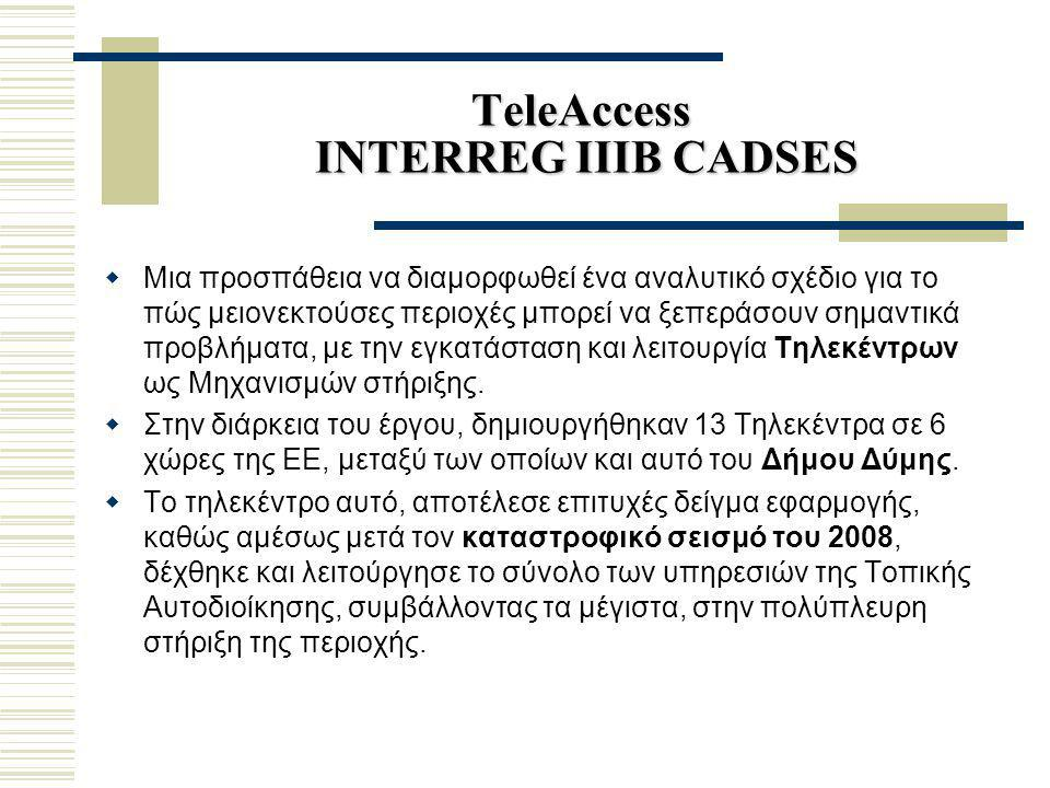 TeleAccess INTERREG IIIB CADSES