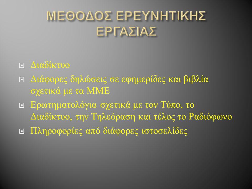 ΜΕΘΟΔΟΣ ΕΡΕΥΝΗΤΙΚΗΣ ΕΡΓΑΣΙΑΣ