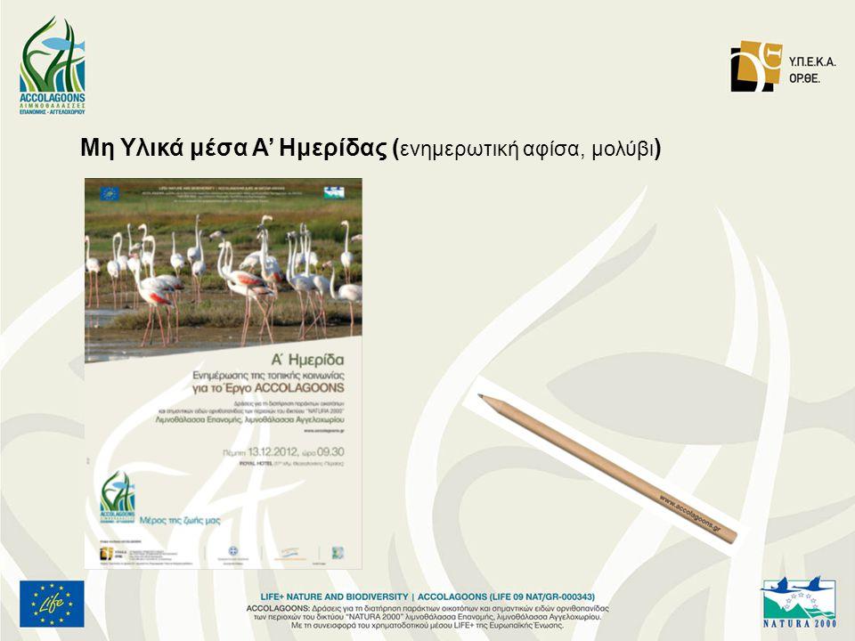 Μη Υλικά μέσα Α' Ημερίδας (ενημερωτική αφίσα, μολύβι)