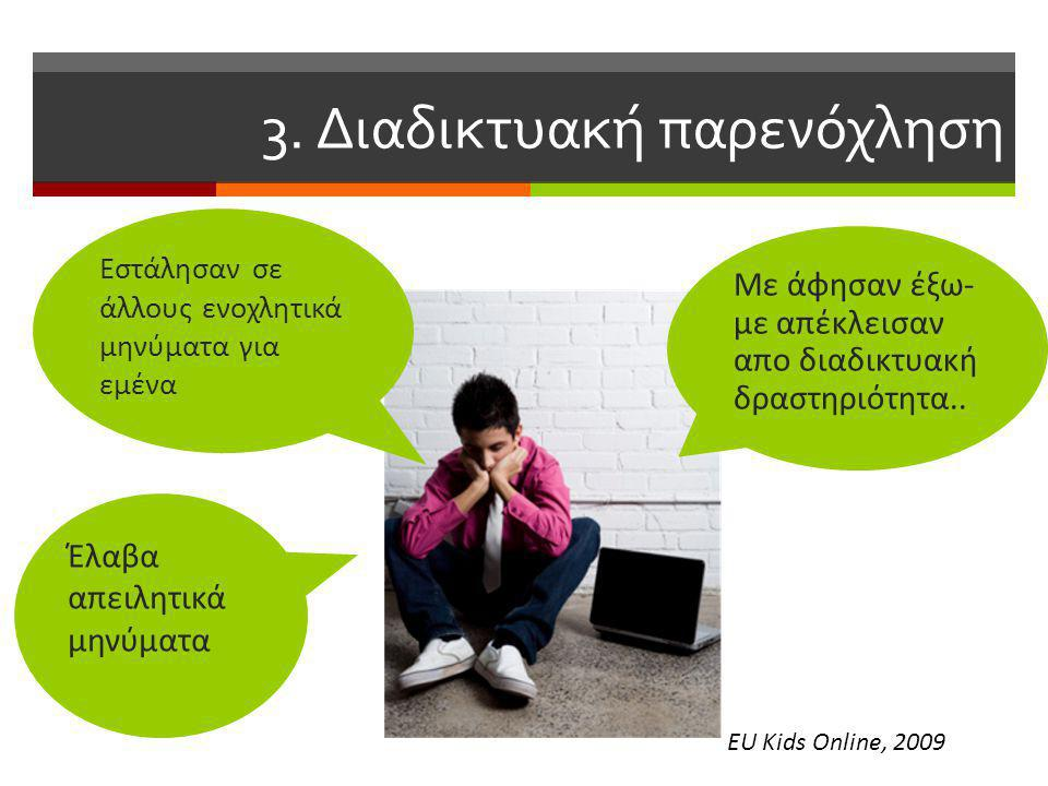 3. Διαδικτυακή παρενόχληση