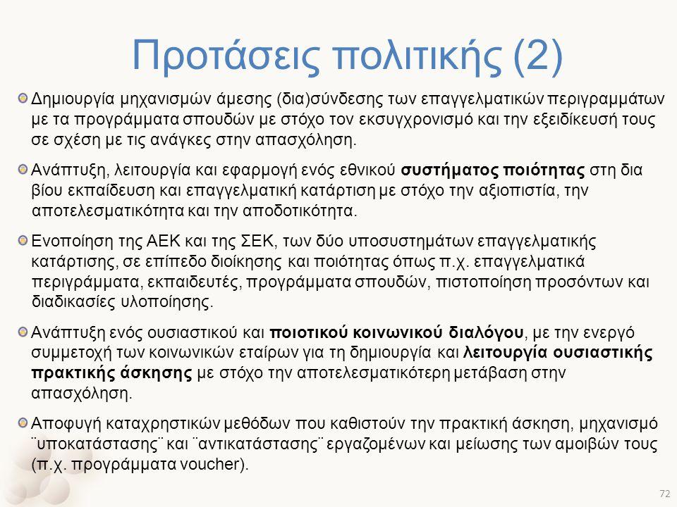 Προτάσεις πολιτικής (2)