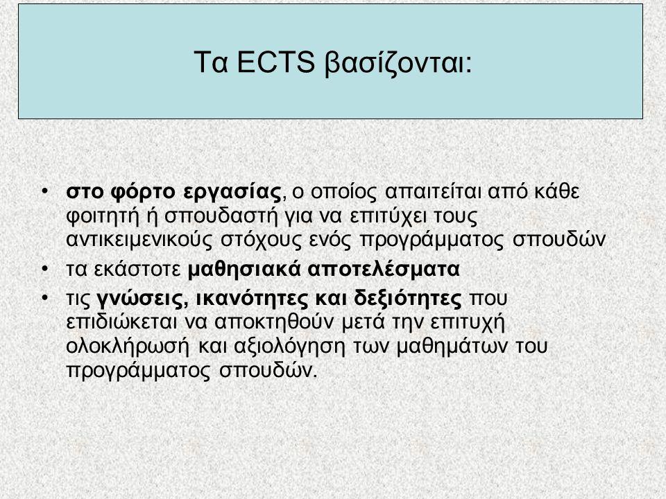 Τα ECTS βασίζονται: