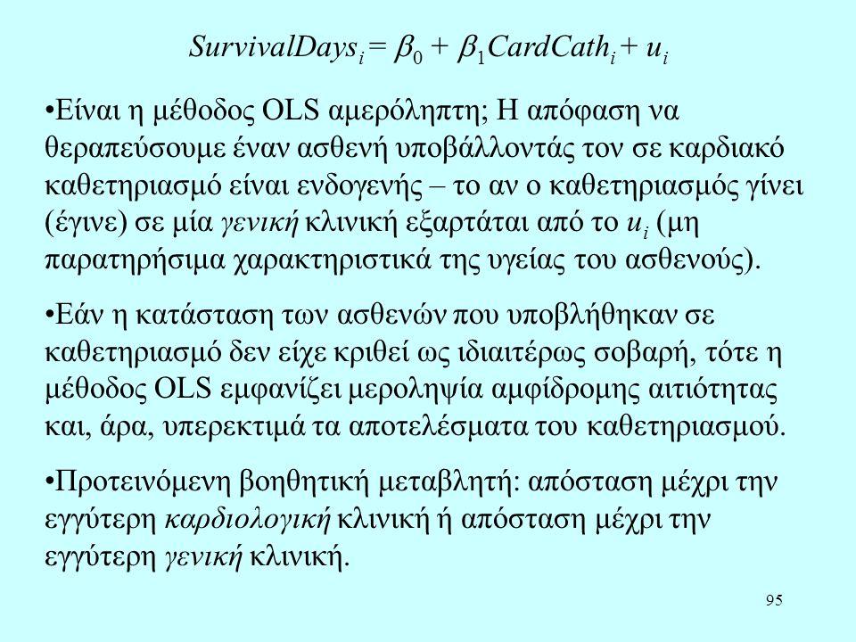 SurvivalDaysi = 0 + 1CardCathi + ui