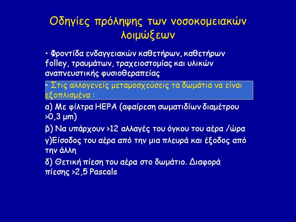 Οδηγίες πρόληψης των νοσοκομειακών λοιμώξεων