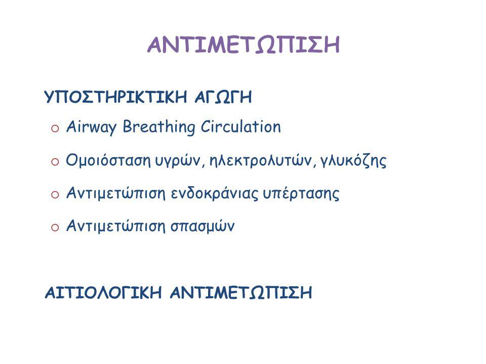 ΑΝΤΙΜΕΤΩΠΙΣΗ ΥΠΟΣΤΗΡΙΚΤΙΚΗ ΑΓΩΓH Airway Breathing Circulation