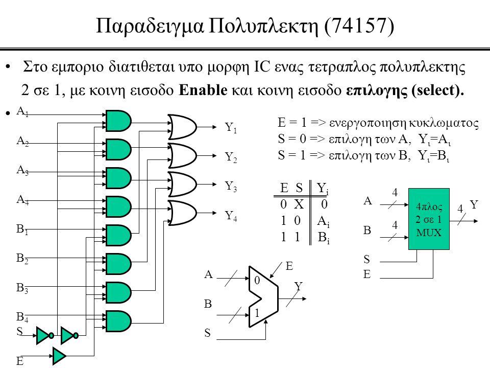 Παραδειγμα Πολυπλεκτη (74157)
