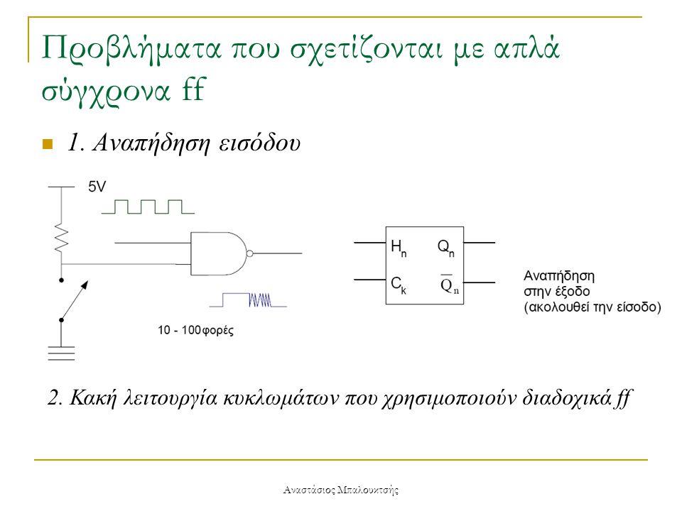 Προβλήματα που σχετίζονται με απλά σύγχρονα ff