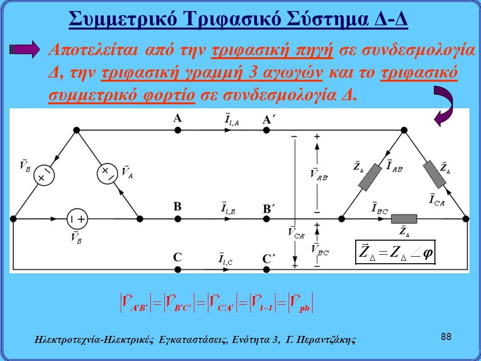 Συμμετρικό Τριφασικό Σύστημα Δ-Δ