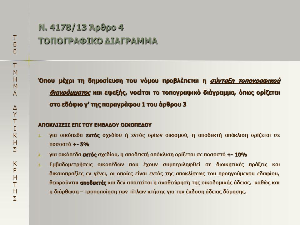 Ν. 4178/13 Άρθρο 4 ΤΟΠΟΓΡΑΦΙΚΟ ΔΙΑΓΡΑΜΜΑ
