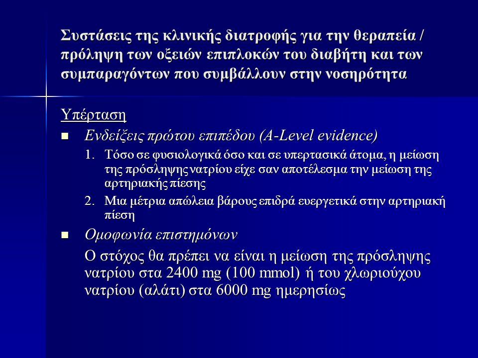 Ενδείξεις πρώτου επιπέδου (A-Level evidence)