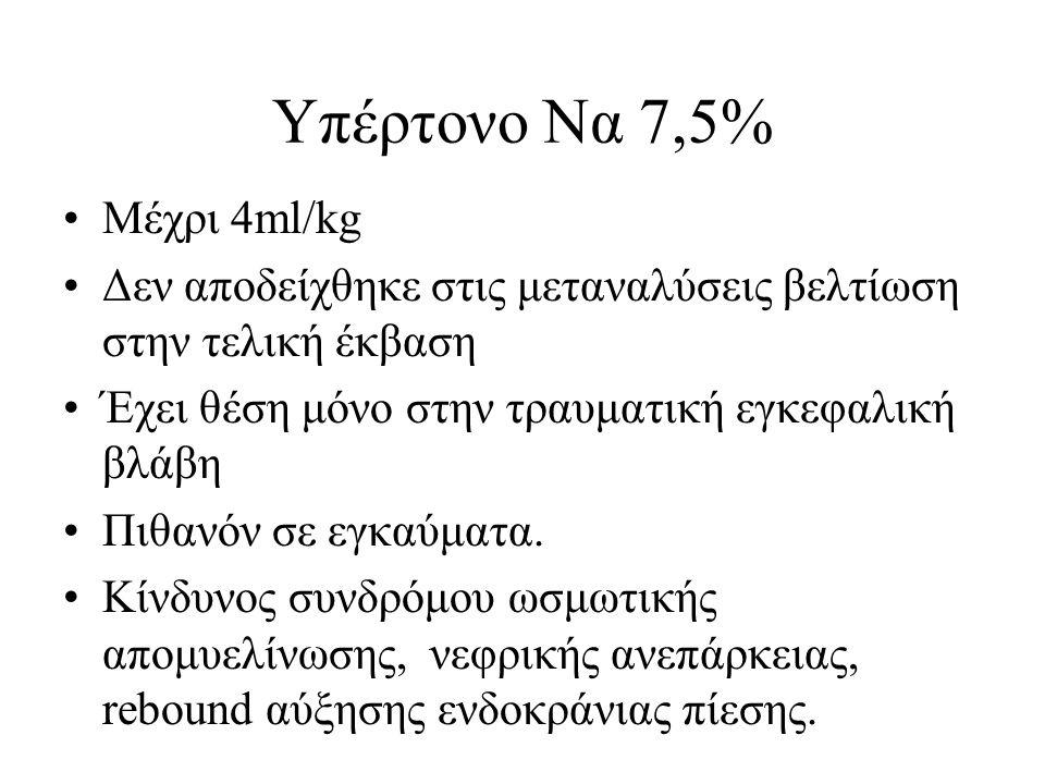 Υπέρτονο Να 7,5% Μέχρι 4ml/kg