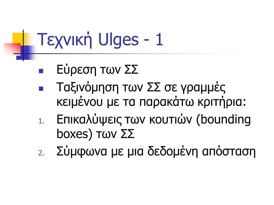 Τεχνική Ulges - 1 Εύρεση των ΣΣ