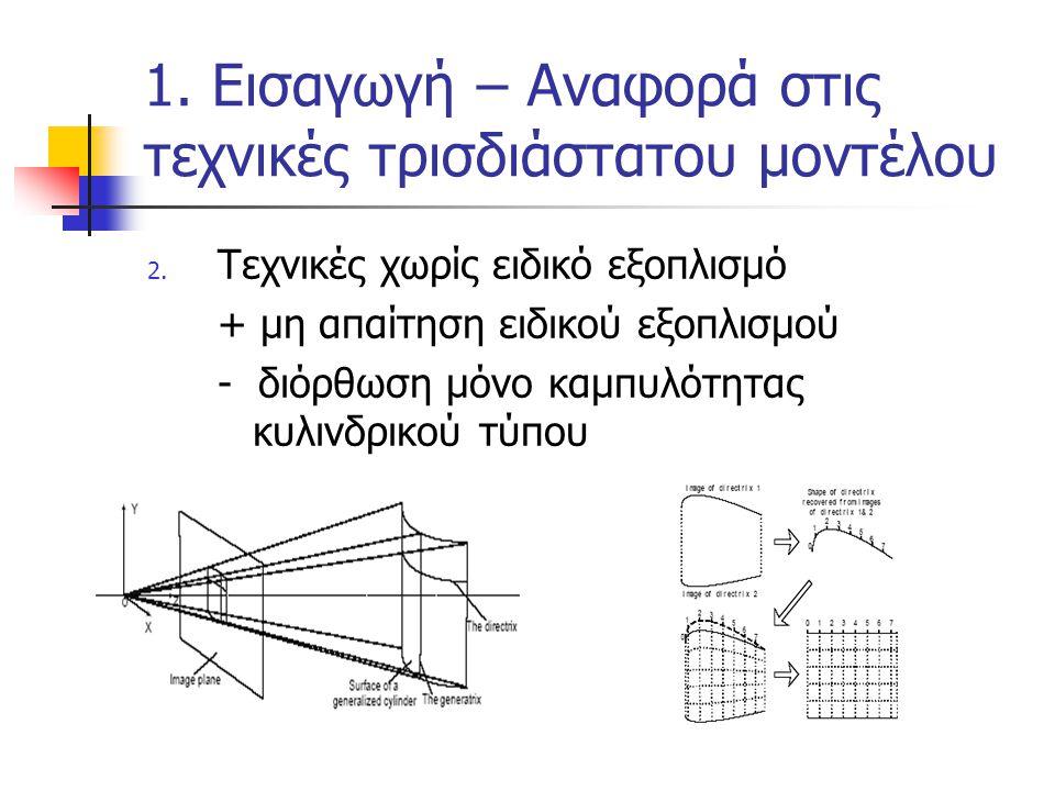 1. Εισαγωγή – Αναφορά στις τεχνικές τρισδιάστατου μοντέλου