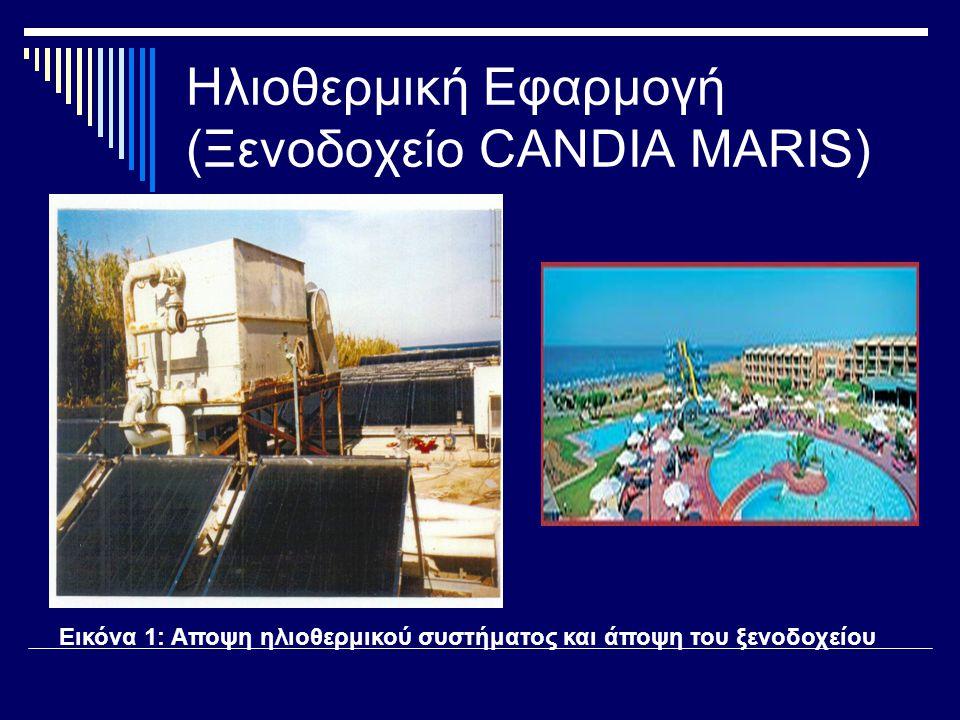Ηλιοθερμική Εφαρμογή (Ξενοδοχείο CANDIA MARIS)
