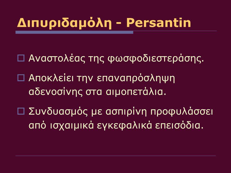 Διπυριδαμόλη - Persantin