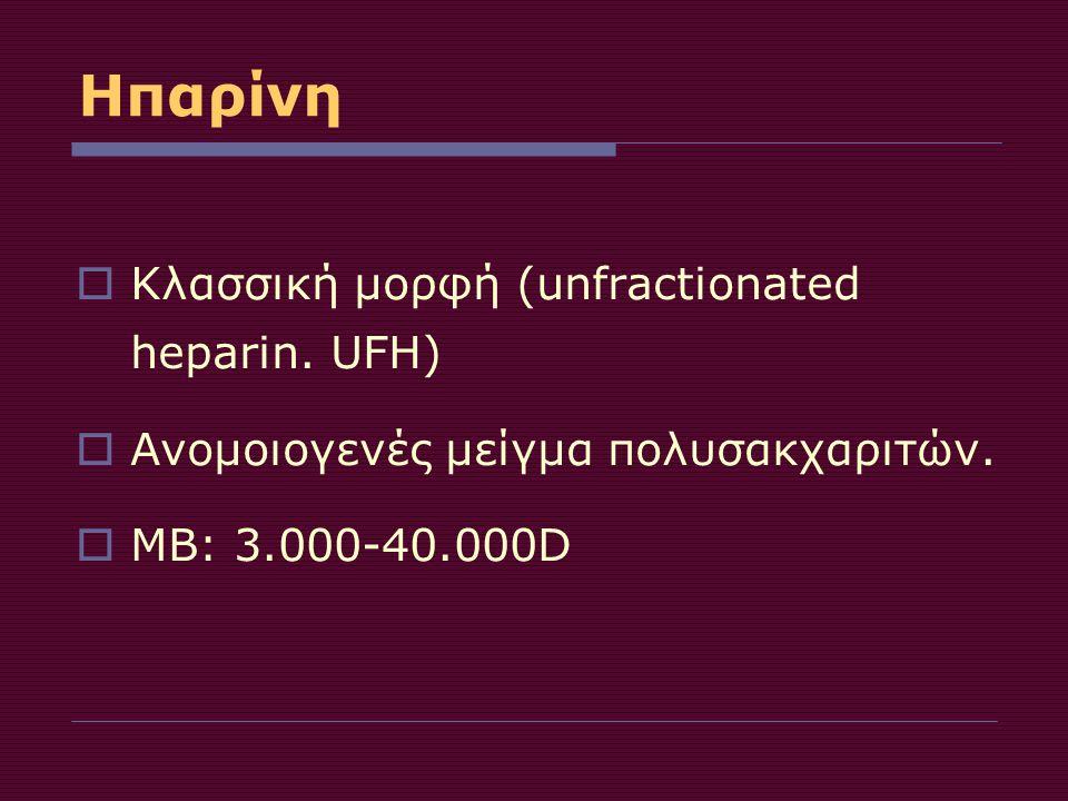 Ηπαρίνη Κλασσική μορφή (unfractionated heparin. UFH)