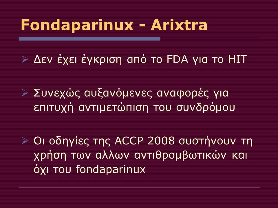 Fondaparinux - Arixtra