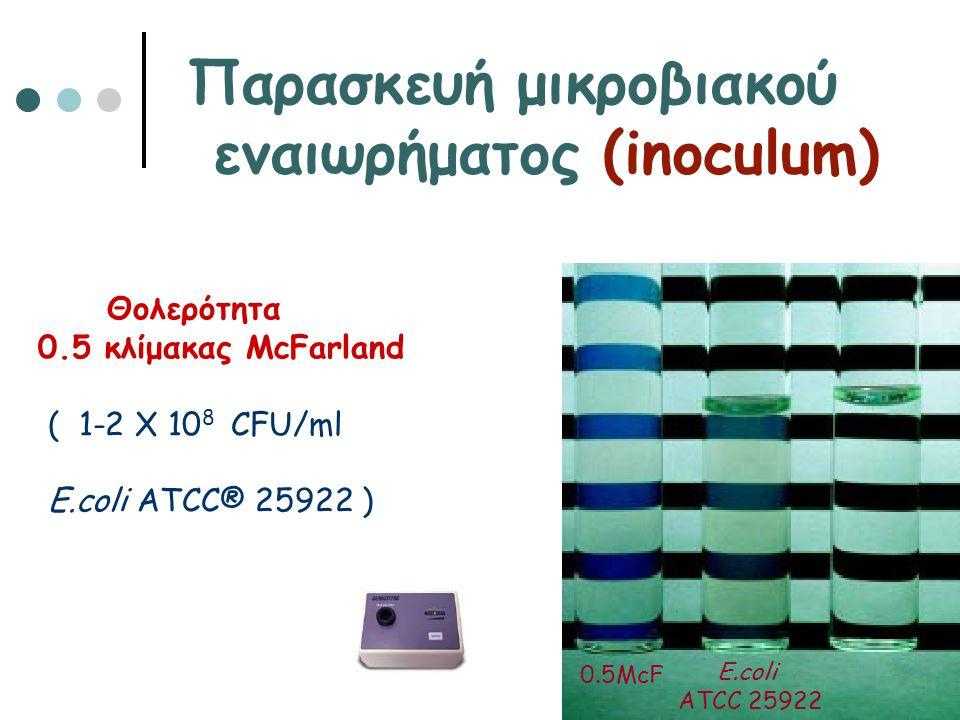 Παρασκευή μικροβιακού εναιωρήματος (inoculum)