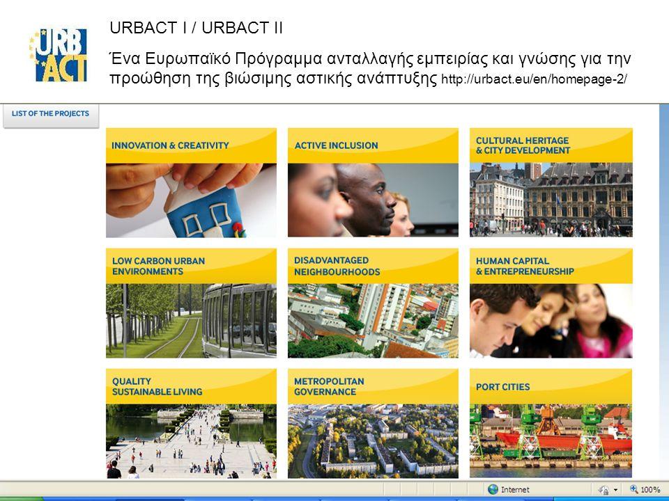 URBACT I / URBACT II