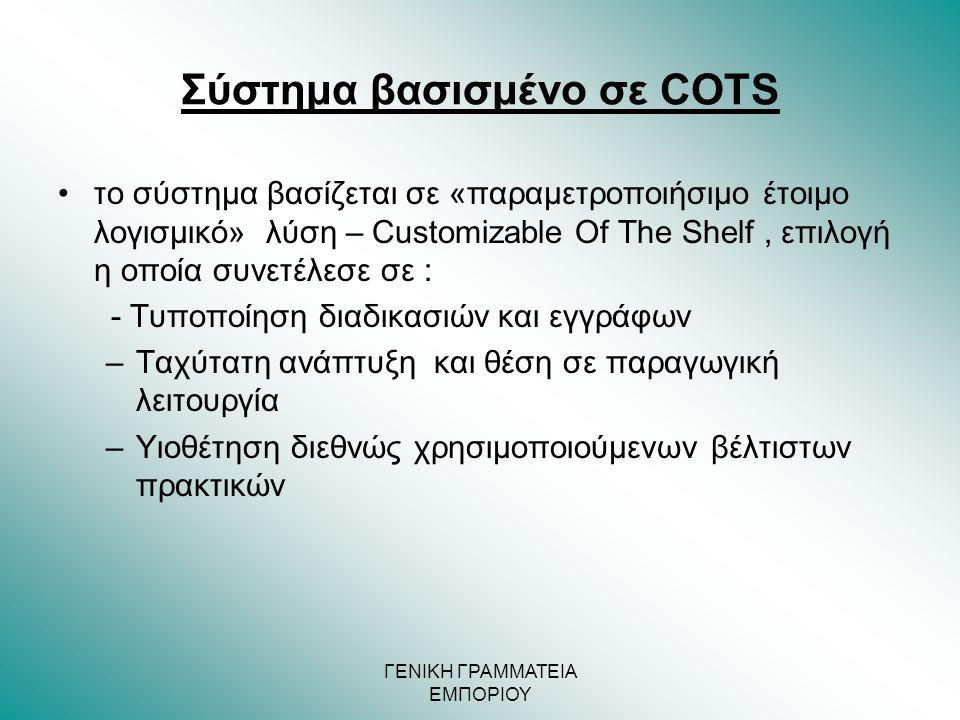 Σύστημα βασισμένο σε COTS