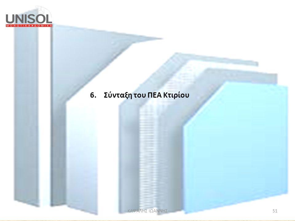 6. Σύνταξη του ΠΕΑ Κτιρίου