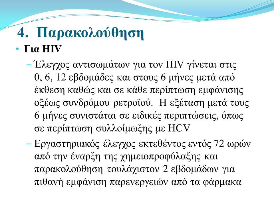 4. Παρακολούθηση Για HIV.