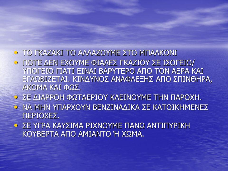 ΤΟ ΓΚΑΖΑΚΙ ΤΟ ΑΛΛΑΖΟΥΜΕ ΣΤΟ ΜΠΑΛΚΟΝΙ