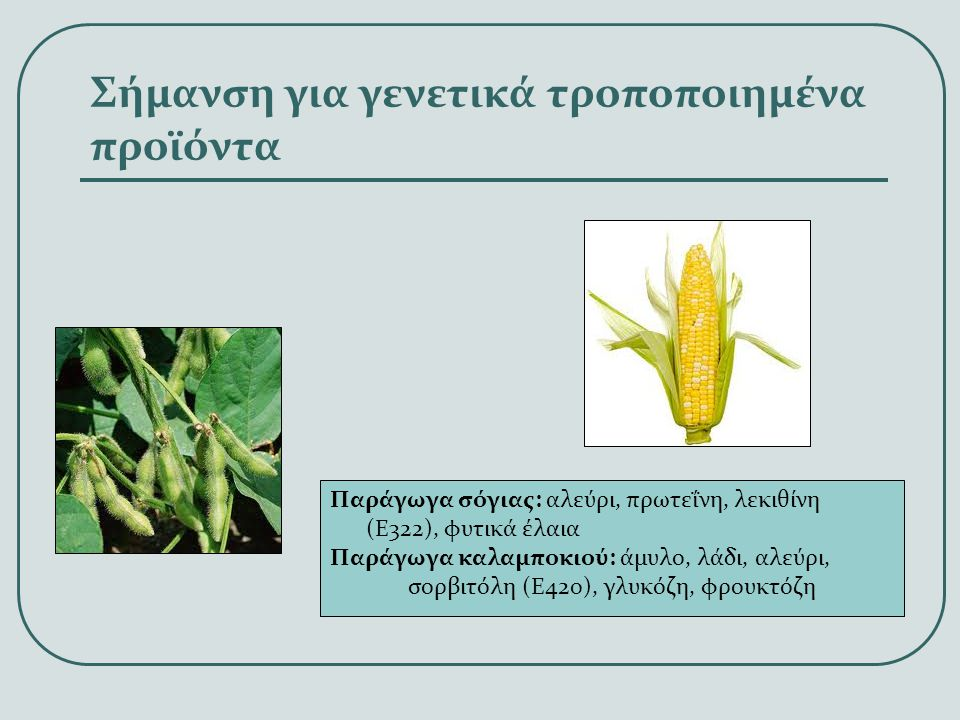Σήμανση για γενετικά τροποποιημένα προϊόντα