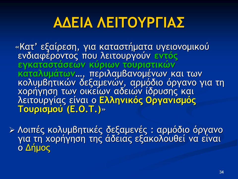 ΑΔΕΙΑ ΛΕΙΤΟΥΡΓΙΑΣ