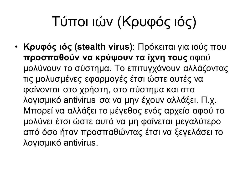 Τύποι ιών (Κρυφός ιός)