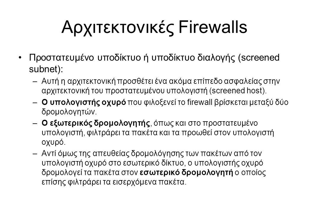 Αρχιτεκτονικές Firewalls